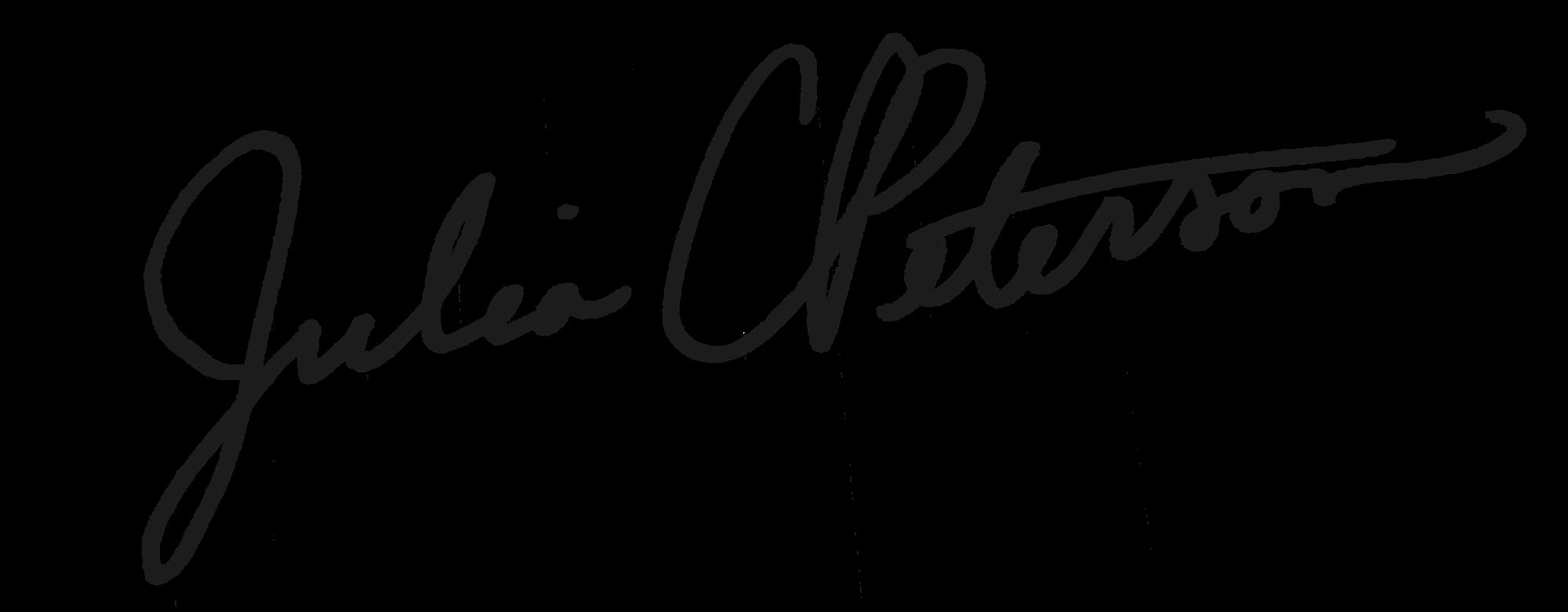 Julia Peterson's Signature