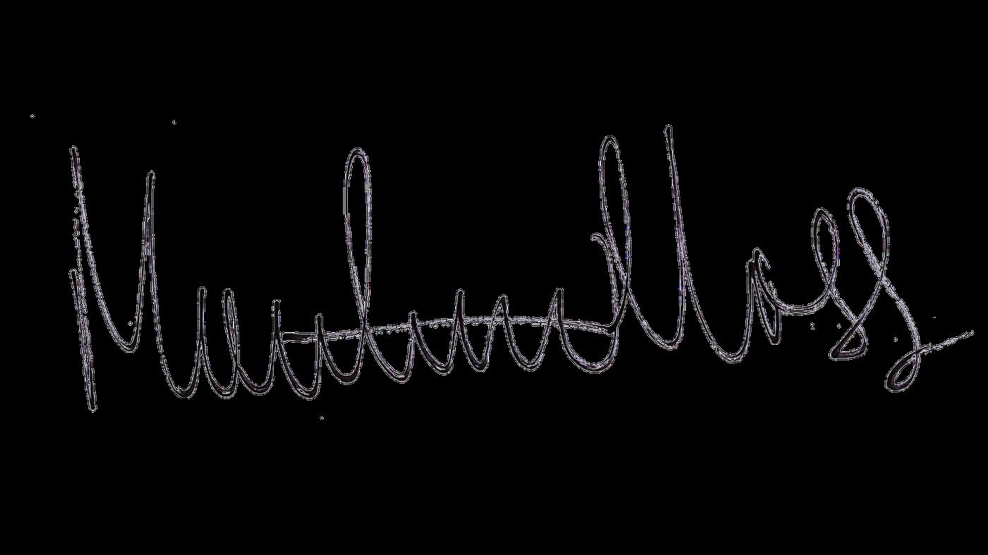 Matthew Moss's Signature